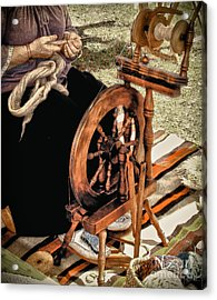 Spinning Wool Acrylic Print