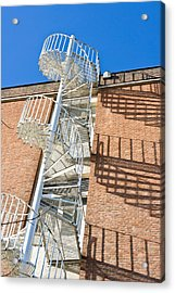 Spiral Staircase Acrylic Print by Tom Gowanlock