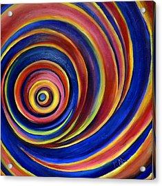 Spirals Acrylic Print by Art by Kar