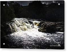 Splashing Australian Water Stream Or Waterfall Acrylic Print by Jorgo Photography - Wall Art Gallery
