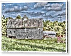 Spring Barn Acrylic Print
