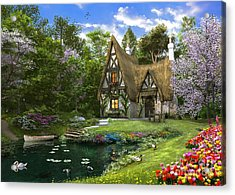 Spring Lake Cottage Acrylic Print by Dominic Davison