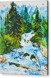 Spring Run-off Acrylic Print
