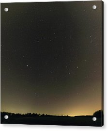 Spring Stars And Light Pollution Acrylic Print by Eckhard Slawik