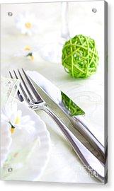 Spring Table Setting Acrylic Print