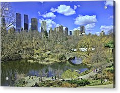 Springtime In Central Park Acrylic Print by Allen Beatty