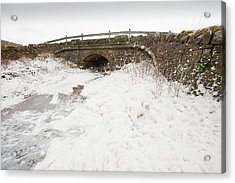 Spume From Storm Waves Acrylic Print by Ashley Cooper
