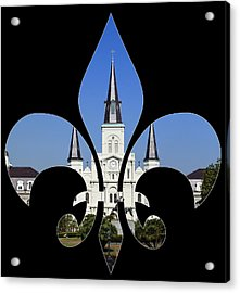 St Louis Cathedral Acrylic Print by Cecil Fuselier