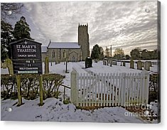St Mary's Tharston Acrylic Print by Darren Burroughs
