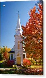 St Matthew's In Autumn Splendor Acrylic Print