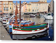 Acrylic Print featuring the photograph St. Tropez - France by Haleh Mahbod