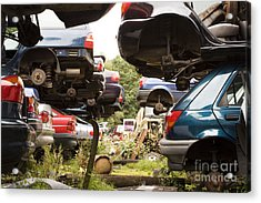 Stacked Cars Acrylic Print