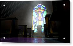 Stained Glass Window Church Acrylic Print