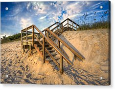 Stairway To Heaven Acrylic Print by Debra and Dave Vanderlaan