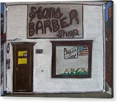 Stans Barber Shop Menominee Acrylic Print