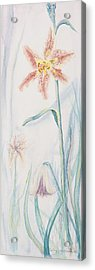 Acrylic Print featuring the painting Stargazer Lily by Cathy Long