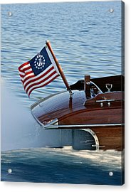 Stars And Stripes On The Water Acrylic Print