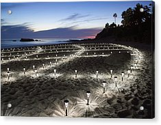 Stars On The Sand Acrylic Print by Cliff Wassmann