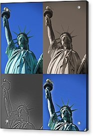 Statue Of Liberty Acrylic Print by Dan Sproul