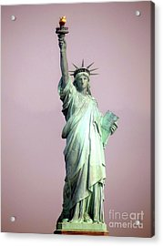 Statue Of Liberty Acrylic Print by Ed Weidman