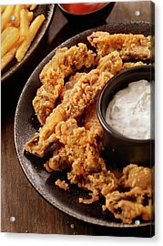 Steak Fingers With French Fries Acrylic Print by Lauripatterson