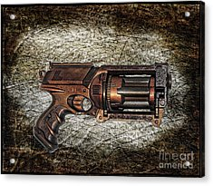Steampunk - Gun - The Multiblaster Acrylic Print by Paul Ward