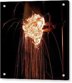 Steel Wool Burning In Air Acrylic Print