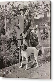 Stein With His Dog Acrylic Print by British Library