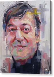 Stephen Fry  Acrylic Print by Richard Day