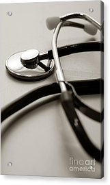 Stethoscope Acrylic Print by Olivier Le Queinec