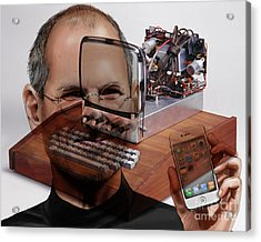 Steve Jobs Acrylic Print by Marvin Blaine