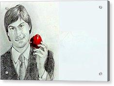 Steve Jobs Acrylic Print by Mayur Sharma