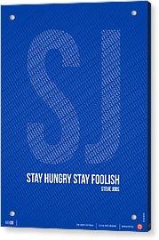 Steve Jobs Quote Poster Acrylic Print