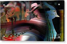 Steven Tyler  Acrylic Print by Marvin Blaine