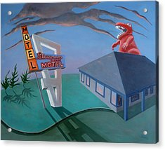 Acrylic Print featuring the painting Stevenson Motel by Sally Banfill