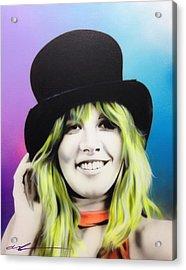 Stevie Nicks - ' Stevie ' Acrylic Print by Christian Chapman Art