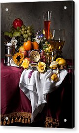 Still Life With Fruits And Drinking Vessels Acrylic Print