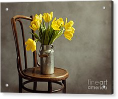 Still Life With Yellow Tulips Acrylic Print