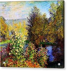 Stiller Winkel Im Garten Von Montgeron Acrylic Print by Celestial Images