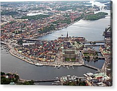 Stockholm Aerial View Acrylic Print by Lars Ruecker
