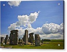 Stonehenge Acrylic Print by Matthew Gibson
