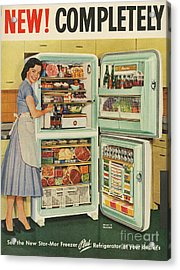 Stor-mor  1950s Uk Fridges Freezers Acrylic Print