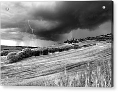 Storm Approcing The Tuscan Countryside Acrylic Print by Yuri Santin