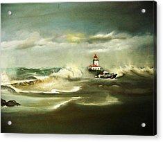 Stormy Acrylic Print by Pamela Powers