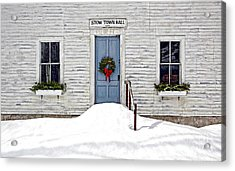 Stow Town Hall . 1842 Acrylic Print by Thomas J Martin
