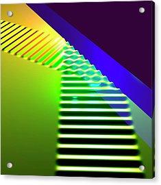 Straight Wave Reflection Acrylic Print