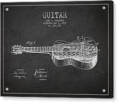 Stratton Guitar Patent Drawing From 1893 Acrylic Print