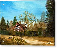 Strawberry Lodge Acrylic Print by Dale Jackson