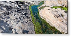Stream Flowing Through A Rocky Acrylic Print by Panoramic Images