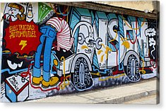 Street Art Valparaiso Chile 15 Acrylic Print by Kurt Van Wagner